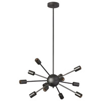 Bristol 12 Light 17 inch Matte Black Chandelier Ceiling Light
