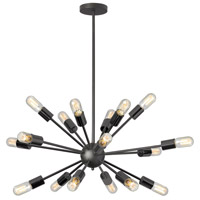 Bristol 18 Light 34 inch Matte Black Chandelier Ceiling Light