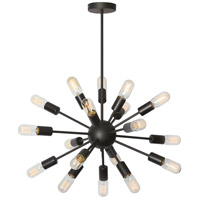 Bristol 18 Light 26 inch Matte Black Satellite Chandelier Ceiling Light