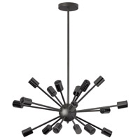 Bristol 18 Light 27 inch Matte Black Chandelier Ceiling Light