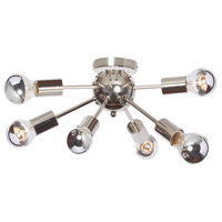 Bristol 6 Light 18 inch Polished Chrome Flush Mount Ceiling Light