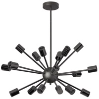 Bristol 18 Light 22 inch Matte Black Satellite Chandelier Ceiling Light