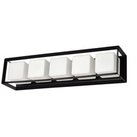 Dainolite BTC-265W-MB Beatrice 5 Light 26 inch Matte Black/Opal White Vanity Light Wall Light