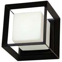 Dainolite BTC-61W-MB Beatrice 1 Light 6 inch Matte Black/Opal White Wall Light, Decorative
