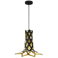 Dainolite CAM-141P-698 Campanula LED 14 inch Black Pendant Ceiling Light