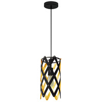 Dainolite CAM-61P-698 Campanula LED 6 inch Black Pendant Ceiling Light