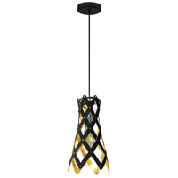 Dainolite CAM-81P-698 Campanula LED 8 inch Black Pendant Ceiling Light