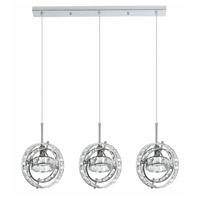 Cassini 3 Light 7 inch Polished Chrome Pendant Ceiling Light