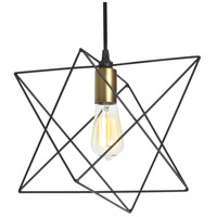 Industrial Chic 1 Light 13 inch Matte Black Pendant Ceiling Light