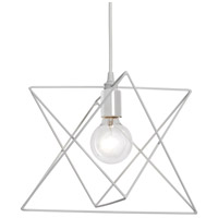 Industrial Chic 1 Light 13 inch Matte White Pendant Ceiling Light