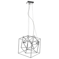 Dainolite Cubo 6 Light Pendant in Polished Chrome with Optical Crystals CBE-166P-PC