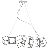 Cubo 6 Light 9 inch Polished Chrome Chandelier Ceiling Light
