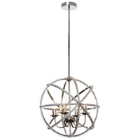 Dainolite Canterbury 4 Light Chandelier in Polished Chrome CBY-184C-PC