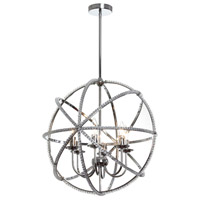 Dainolite Canterbury 6 Light Chandelier in Polished Chrome CBY-236C-PC