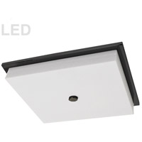 Morgan LED 16 inch Matte Black/White Flush Mount Ceiling Light