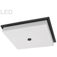 Dainolite CFLED-1107-MB Morgan LED 16 inch Matte Black/White Flush Mount Ceiling Light