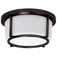 Dainolite CFLED-B1011-BZ Signature LED 10 inch Bronze and White Flush Mount Ceiling Light