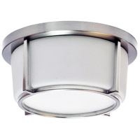 Dainolite CFLED-B1011-PC Signature LED 10 inch Polished Chrome and White Flush Mount Ceiling Light