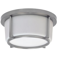 Dainolite CFLED-B1011-SC Signature LED 10 inch Satin Chrome and White Flush Mount Ceiling Light