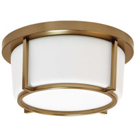 Dainolite CFLED-B1011-VB Signature LED 10 inch Vintage Bronze and White Flush Mount Ceiling Light