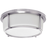 Dainolite CFLED-B1316-PC Signature LED 13 inch Polished Chrome and White Flush Mount Ceiling Light