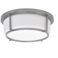 Dainolite CFLED-B1316-SC Signature LED 13 inch Satin Chrome and White Flush Mount Ceiling Light