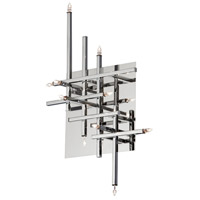Dainolite Mondrian 11 Light Flush Mount in Polished Chrome CG8611FH-PC