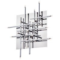 Dainolite Mondrian 16 Light Flush Mount in Polished Chrome CG8616FH-PC