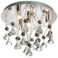 Signature 4 Light 13 inch Polished Chrome Flush Mount Ceiling Light