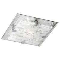 Signature 2 Light 10 inch Polished Chrome Flush Mount Ceiling Light