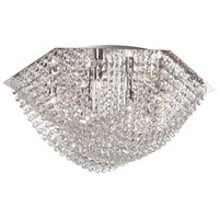 Dainolite Chandra 3 Light Flush Mount in Polished Chrome CHA-103FH-PC