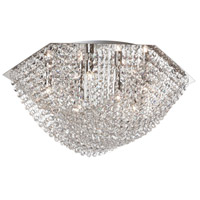 Dainolite Chandra 7 Light Flush Mount in Polished Chrome CHA-187FH-PC