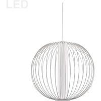 Dainolite CHR-161LEDP-MW Charlotte LED 17 inch Matte White/White Pendant Ceiling Light