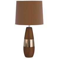 Dainolite Signature Table Lamp in Dark Brown and Scratched Gold CL2255-CHOC