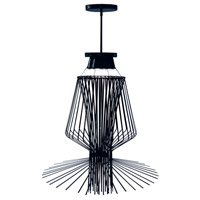 Campana 3 Light 29 inch Black Semi Gloss Pendant Ceiling Light