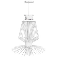 Campana 3 Light 29 inch White Semi Gloss Pendant Ceiling Light