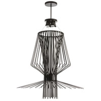 Campana 4 Light 40 inch Black Semi Gloss Pendant Ceiling Light