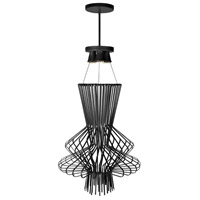 Campana 3 Light 21 inch Black Semi Gloss Pendant Ceiling Light