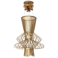 Campana 3 Light 21 inch Gold Semi Gloss Pendant Ceiling Light