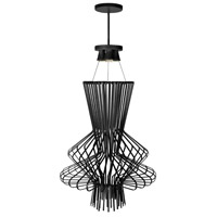 Campana 4 Light 25 inch Black Semi Gloss Pendant Ceiling Light