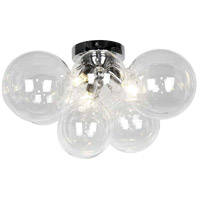 Dainolite CMT-143FH-CLR-PC Comet 3 Light 14 inch Polished Chrome/Clear Flush Mount Ceiling Light