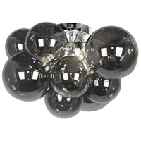 Dainolite CMT-143FH-SM-PC Comet 3 Light 14 inch Polished Chrome/Smoked Flush Mount Ceiling Light