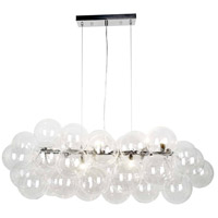 Dainolite CMT-418HP-CLR-PC Comet 10 Light 41 inch Polished Chrome/Clear Pendant Ceiling Light