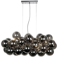 Dainolite CMT-418HP-SM-PC Comet 10 Light 41 inch Polished Chrome/Smoked Pendant Ceiling Light