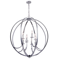 Signature 8 Light 36 inch Polished Chrome Chandelier Ceiling Light