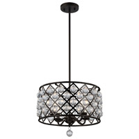 Cresfield 4 Light 15 inch Espresso Chandelier Ceiling Light
