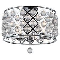 Cresfield 4 Light 15 inch Polished Chrome Semi Flush Ceiling Light