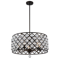 Cresfield 5 Light 22 inch Espresso Chandelier Ceiling Light