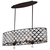 Cresfield 6 Light 38 inch Espresso Chandelier Ceiling Light