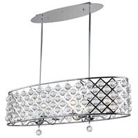 Cresfield 6 Light 38 inch Polished Chrome Chandelier Ceiling Light
